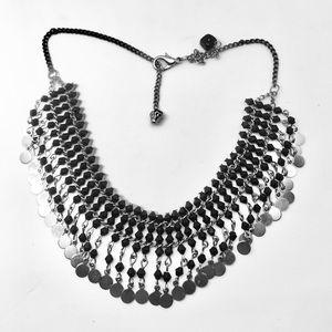 **Swarovski Elements Boho Black silver tone …